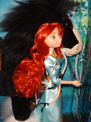 Brave Angus and Merida Doll Set - In Diorama - Midrange Front View #2 (drj1828) Tags: horse set store doll dress princess angus formal disney plush merida bow pixar brave arrow quiver poseable neighs
