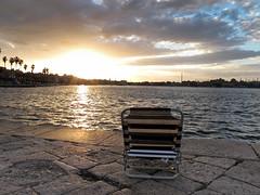Relaxing (NIKOZAR (Nicola Zaratta)) Tags: sunset sea sky italy clouds canon relax italia tramonto nuvole mare relaxing cielo puglia taranto pontile cittavecchia g12 ilva jonio sdraio marpiccolo tramontosulmare bestcapturesaoi canong12
