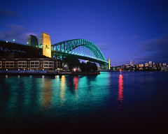 Harbour Bridge, NSW (shaif_isaac) Tags: light night reflections outdoors photography colorphotography sydney bridges australia nobody transportation newsouthwales harbors marinescenes sydneyharbour urbanscenes sydneyharbourbridge seaports archbridges