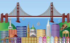 San Francisco City Skyline Panorama Illustration (JPLDesignsPDX) Tags: sf california park ca city travel bridge houses usa tower tourism water car ferry skyline illustration sailboat america buildings poster landscape golden bay hall gate san francisco downtown chinatown cityscape dragon skyscrapers yacht drawing trolley postcard united hill north victorian landmarks cable terminal structure historic souvenir states telegraph vector nob