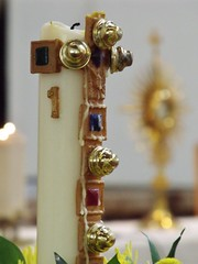 Paschal Candle and Monstrance