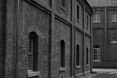 Maizuru Red Brick Warehouse Park (9) (double-h) Tags: monochrome warehouses maizuru  maizururedbrickwarehouse