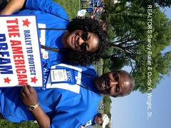 REALTORS Sandra Butler & Curtis Wright (Realtor Action Center) Tags: la realtorrally