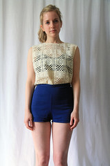 vintage lace top (laurenwinterdotco) Tags: vintage forsale lace crochet etsy sheer lacetop bloomingleopold sleevelesslacetop