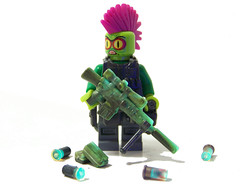 Creature from the Black(light) Lagoon (Silenced_pp7) Tags: light black lego shell lagoon blacklight glowinthedark mohawk shotgun proto gitd m110 blacklagoon shotty brickarms monsterhunters protoytpe monsterfighters
