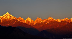 Gold - Sunset Himalaya !!!! (Arindam.Bhattacharya) Tags: sunset wild india mountain color ice nature canon landscape gold himalaya incredible munsiyari kumayun panchachulli himalayasunset