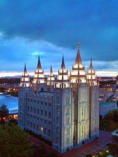 Last light on - Salt Lake Temple