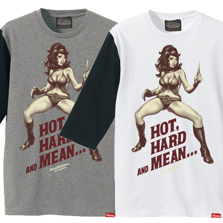 """Erostika - """"HOT, HARD AND MEAN..."""" 七分袖棒球衫"""