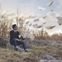paper planes (Tasha Mare) Tags: portrait music inspiration marie paper photography reading book flying lyrics nikon airplanes concept magical tasha concepts thephotographyqueen tashamariephotography teapalm