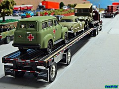 US Military History on the Highway (Phil's 1stPix) Tags: history chevrolet sedan jeep eagle suburban military w wwii police olympus hobby ambulance replica explore chevy granite collectible 88 mack dday 1950 diorama willys oldsmobile militaryhistory scalemodel 3100 diecast firstpix firstgear explored diecastcar highwayscene diecastmodel transcraft diecasttruck diecastcollection 164scale stepdeck diecastcollectible 164diecast diecastvehicle 1stpix firstresponsereplicas diecastdiorama 164truck 164vehicle highwaydiorama 164scalediecast militarydiecast scalehighway 164diorama 164car johnnylightningdiecast 164scalehighway roaddiorama 164automobile trafficdiorama ddaydiecast interstatediorama