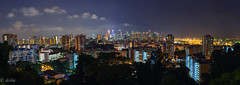 panoramic view of the Singapore city (deslee74) Tags: city night yahoo google nikon singapore flickr panoramic d800 mountfaber nikond800