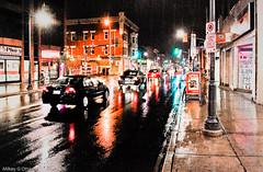 ISO1600 Low-Light, Night Perspective - Ottawa  05 12 (Mikey G Ottawa) Tags: mikeygottawa canada ontario ottawa city street night hiiso lowlight light iso1600 edit adobephotoshoplightroom perspective vanishingpoint rain rainy rainynight pluie regen nuit nacht shine shiny iso 1600iso nightshot highiso