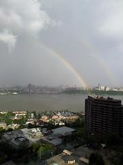 Rainbow Over Harlem (david55king) Tags: usa newyork newjersey harlem manhattan hudson cliffsidepark david55king