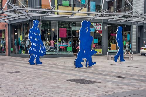 Belfast - Advertising Victoria Square shopping Centre (Ann Street)