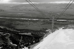 Black and White Ski Lift (andrewpug) Tags: blackandwhite white mountain snow black ski high skilift