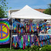Tie-dye booth at the craft show in Glens Falls. Photo: Stuart Delman, Chestertown, NY.