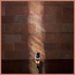 Jump with Priscilla (Miguel Cantu) Tags: light sun reflection sanantonio photography jump beam static utsa