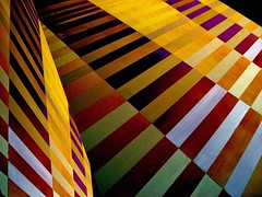 Simply.... stripes (losy) Tags: blue red abstract green colors yellow stripes diagonal zebra bunt streifen phvalue keinetischdecke losyphotography