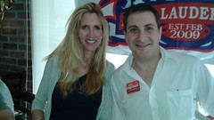US Congressional candidate Joe Kaufman with Ann Coulter at the Tea Party Fort Lauderdale