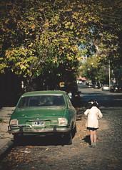 Palermo [Explored] (marywilson's eye) Tags: street old autumn cute verde green sol argentina girl car vintage 50mm calle back kid ancient buenosaires nikon toddler child julia buenos aires retro niña coche espalda otoño fade palermo viejo antiguo peugeot d90
