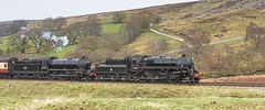 At the Double (4486Merlin) Tags: england europe unitedkingdom transport steam northeast railways northyorkshire gbr northyorkshiremoorsrailway heritagerailways moorgates exlner exbr brclassk1 brstd4mt260 7600176079 nymrscottishbranchlinegala 6205262005