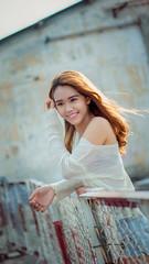 My Girl (Freelance Photographer/ Designer) Tags: hello sunset sun sunlight color cute beautiful smile hair 50mm vietnamese shot random bokeh outdoor chinese may sunny pinky cutie vietnam korean curly shooting shorts nhi ngi yn outdoorgirl