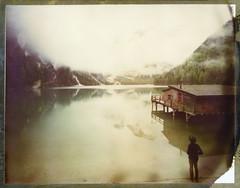 The House By The Lake (Bastiank80) Tags: bastiank polaroid 79 large format lago di braies pragser wildsee explore nature lake mountains fog