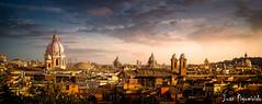 Roma (Juan Figueirido) Tags: travel sunset italy panorama rome roma architecture arquitectura pano puestadesol fz1000 juanfigueirido