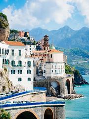 Amalfi (miemo) Tags: road city travel sea italy mountains buildings spring europe campania amalficoast village curves olympus hills curved amalfi mediterraneansea omd olympus45mmf18 em5mkii