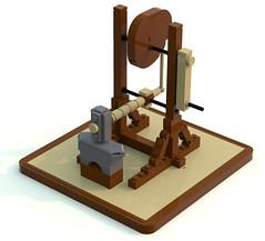 hammer (ravescat) Tags: wheel hammer tank lego da historical leonardo vinci weapons moc