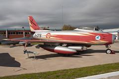 North American F-86F Sabre (Przemyslaw Burdzinski) Tags: del cuatro spain force air north sabre american museo aire vientos f86f levs c5223 10042016