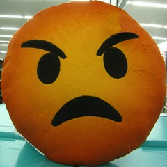 grumpy pillow (muffett68 ) Tags: pillow angry squaredcircle grumpy emoticon emoji clichesaturday picmonkey