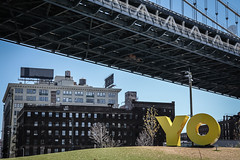 'YO' DUMBO (Steven J Parkes) Tags: newyorkcity newyork brooklyn manhattan dumbo manhattanbridge 24105mm canon5dmkii
