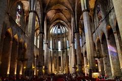 BCN Iglesia Maria del Mar. (gerard eder) Tags: world barcelona city travel espaa spain europa europe cathedral kathedrale catedral ciudades stdte catalua spanien reise metropole