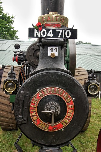 UK, Woolpit Steam Rally, Wallis & Stevens Expansion Engine, Face, HDR