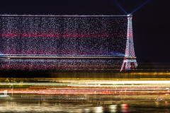 Stardust trail (cedbrule) Tags: longexposure light lightpainting paris france reflection tower beauty night landscape outside amazing nikon cityscape nightscape outdoor magic eiffel lighttrail d610