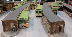 The Old Halifax Bus Station. (ManOfYorkshire) Tags: halifax old bus station original nimbus kits metal whitemetal diecast diorama stand 1960s model 176 scale oogauge newlands blackshawhead livery transport show museum rotherham aldwarke 2016