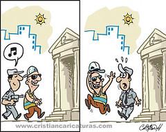 Caricatura de una vez (Caricaturascristian) Tags: en de gallo lo que un justicia canta robo menos autoridades polica cmplices atracos delincuencia asaltos