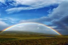 Multiple rainbow (marko.erman) Tags: sky sun green colors beautiful rain weather landscape iceland rainbow sony hills multiple islande