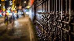 fenced bokeh (gian_tg) Tags: night lights dof bokeh outdoor streetphotography hff fencedfriday happyfencedfriday fujixt1 soapbubblebokeh