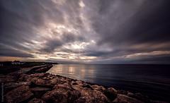 Skies over East Kent Coast (JennTurner) Tags: sky water clouds canon reflections evening kent coastal 6d reculver samyang