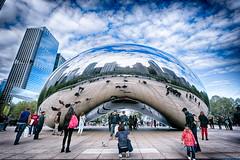 Cloud Gate (Sassenach5) Tags: sky chicago reflection clouds canon bean cloudgate hdr 6d 1635mm tonemap