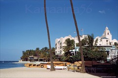 Royal Hawaiian Beach Ewa 1950s (Kamaaina56) Tags: beach hawaii hotel waikiki slide 1950s royalhawaiian outriggerclub