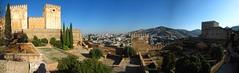 Alhambra Palace 02   Panoramic View / Granada / Spain - 27.03.2012 (Ahmed Al.Badawy) Tags: spain granada alhambrapalace hutectshots ahmedalbadawyandalusiaandalucia