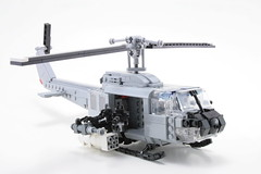 Huey Gunship (psiaki) Tags: lego vietnam huey helicopter gunship iroquois moc uh1