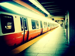 Taking A Ride (AnthonyTulliani) Tags: window boston train subway wellington wait mbta mobilephotography phoneography androidography