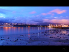 (sunflower_lotus) Tags: ocean canada beach night vancouver downtown view kitsilano