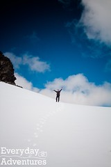 Stewart Knight and Mundy 355 (Every Day Adventures) Tags: camping winter mountain snow canada cold ice landscape outdoors hiking britishcolumbia tent hike adventure alpine hiker redshirt mtbaker chilliwack scrambling oneman cheamrange knightpeak stewartpeak babymundypeak