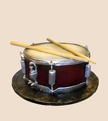 snare drum cake (Cake Rhapsody) Tags: music food art cake drums drum sugar instrument tama rim airbrush drumsticks strainer snare fondant gumpaste imperialstar barbaranngarrard sugarcakerhapsody