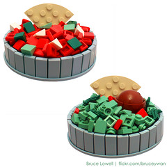 LEGO Salsa and Guacamole (bruceywan) Tags: food tomato avocado corn lego bruce chips guacamole onion salsa cilantro tortilla nachos jalapeno photostream lowell dips moc deliciousness brucelowellcom
